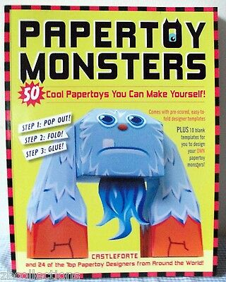 Paper Toy Monsters Make Your Very Own Amazing Papertoys Just POP FOLD & GLUE!
