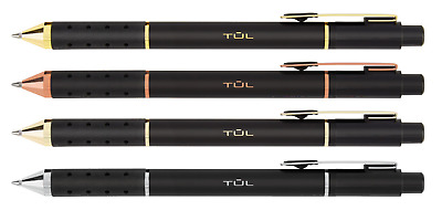 4 TUL LIMITED Edition Gel Pens Medium 0.7mm BLACK Retractable  Gold Ruby Rose Si