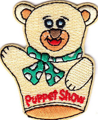PUPPET SHOW Iron On Patch Theater Puppets Hobby Show