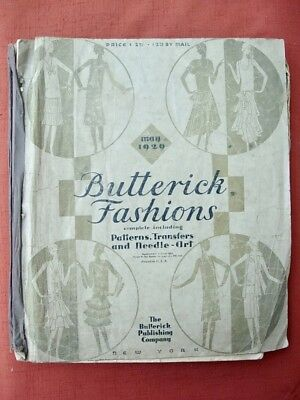 May 1929 BUTTERICK FASHIONS PATTERN BOOK Clothing ACCESSORIES