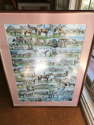 Horse Racing Jigsaw Puzzle Framed