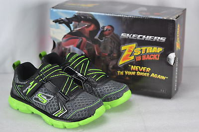 Youth Boy's Skechers Advance- Power Tread Sneakers Charcoal/Black/Lime