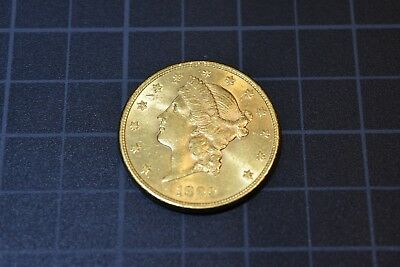 1899 S 20$ Gold Liberty Head Double Eagle AU Condition Free S/H
