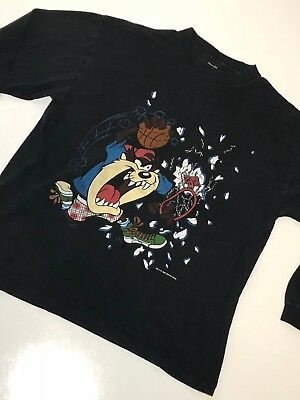 Vintage 90s Taz SPACE JAM  T-shirt WARNER BROS size large 1997 Made in USA