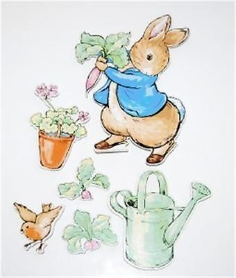 Brand New 6 pc Beatrix Potter Peter Rabbit Sturdy Wall Hangings For Nursery