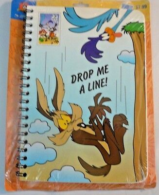 NEW SEALED Official Looney Tunes Address Book Wile E Coyote Road Runner WB NOS