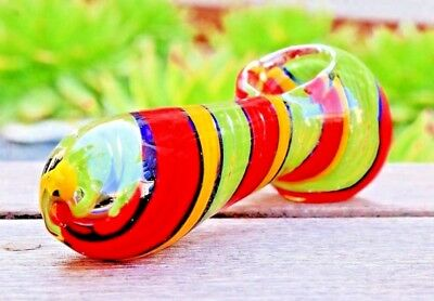 """4.5"""" Rasta Collectible Tobacco Glass Pipe Smoking Herb Bowl Hand Pipes"""
