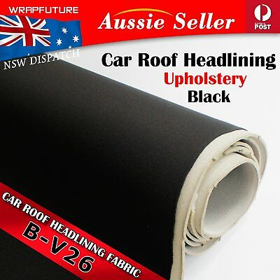 Black Headliner Fabric Replace Automotive Roof Lining Foam Upholstery 1.51Mx3.5M