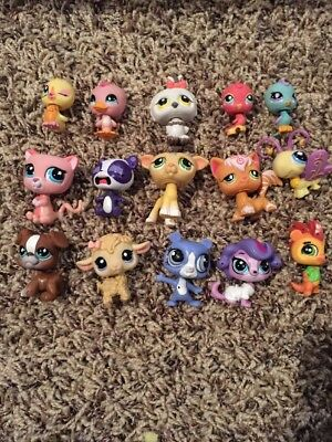 LPS Littlest Pet Shop Lot Of 15 Random Pets (LOT 15!)
