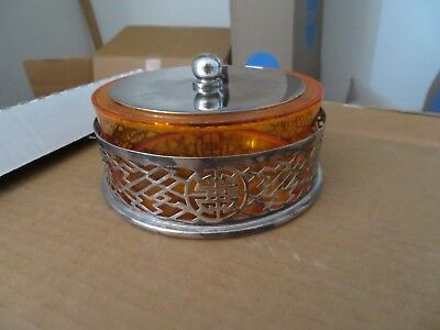 Chinese Export Shanghai Tang Silverplate Candy Dish