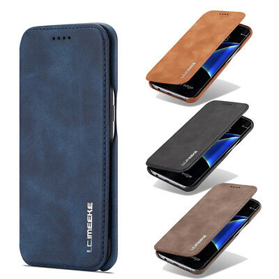 For Samsung Galaxy S7/S7 edge Case Magnetic Leather Card Holder Flip Stand Cover
