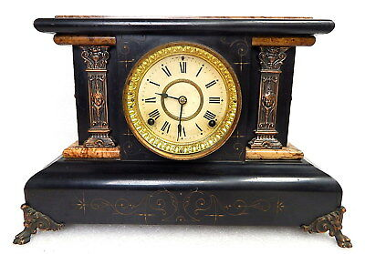RARE Antique 1880 Seth Thomas 102 Adamantine Art Deco Mantel Clock Working
