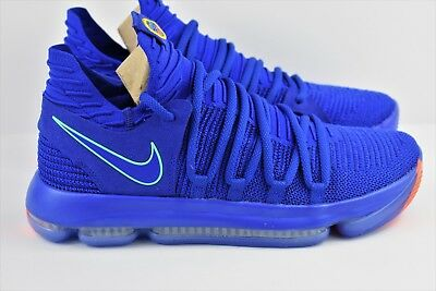 promo code 559d0 bd194 Nike Zoom KD 10 KDX Mens Size 10 Basketball Shoes Blue City Edition 897815  402