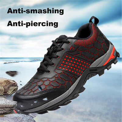 AtreGo Men Steel Toe Safety Indestructible Bulletproof Midsole Work Shoes