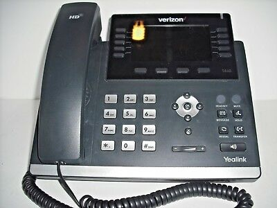 Yealink SIP-T46G Gigabit IP Phone Verizon Network Great Condition