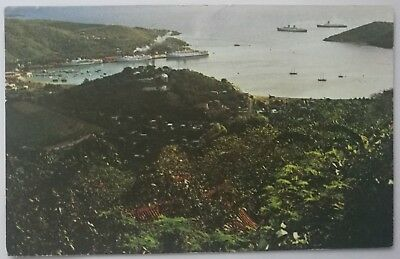 Postcard 1968 St Thomas, Virgin Islands, Cruise Ship