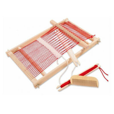 Wooden Traditional Weaving Loom Baby Toys Pretend Play Toys Childrens Wooden Toy