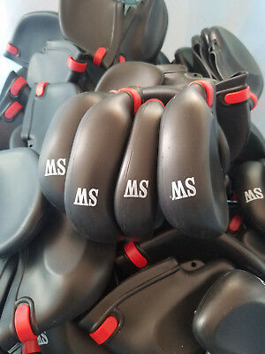 Defective Print 8 Pcs Set Golf Club Caps Iron Head Protect Covers Rubber Sleeve