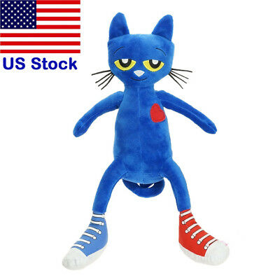35cm Pete The Cat Soft Animal Plush Toy I Love My White Shoes Peter Cat Doll