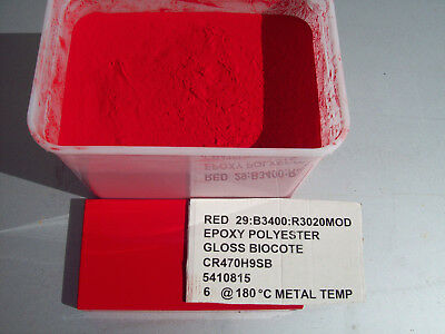 POWDER COATING PAINT - TRAFFIC RED - RAL3020  2kg