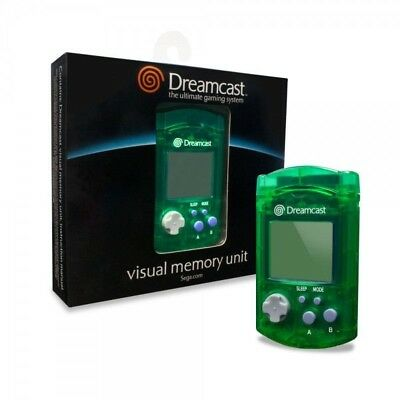 Sega Dreamcast VMU Memory Card Green for Sega DC DreamCast Game System