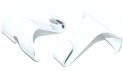 WHITE PICTURE RAIL HOOKS 44 x 40mm GALLERY HANGING HOOK MIRROR PAINT DADO PHOTO