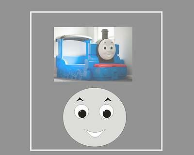 Little Tikes Thomas the Tank Engine Bed  Mouth Eyebrow & Eye Stickers & 2 x no1s