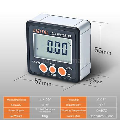 Portable Digital Inclinometer Protractor Angle Finder Bevel Measuring Box P3I8