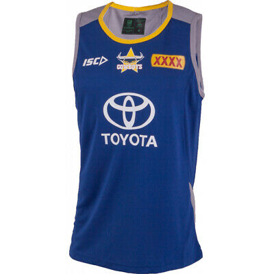 NQ Cowboys NRL 2018 Players ISC Training Singlet Size S & M ONLY! In Stock!