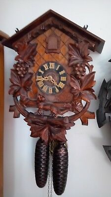 vintage cuckoo clock 8 day Wall clock fox