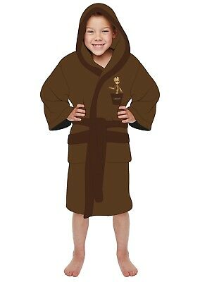 Boys Girls Kids Baby Groot Guardians of the Galaxy Bath Robe Dressing Gown Hood