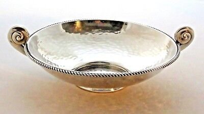 QUALITY  SOLID SILVER FRUIT / CAVIAR BOWL, 1940/50 s. RUSSIAN OR GREEK. GIFT BOX