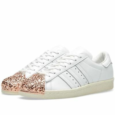 best sneakers c942b 9ccd5 ADIDAS ORIGINALS WOMENS Superstar 80s 3D MT Rose Gold Trainers White  (BB2034)