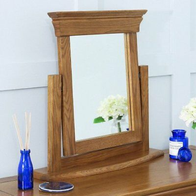 French Louis Oak Dressing Table Vanity Mirror - Adjustable Pivot Angle - FL11