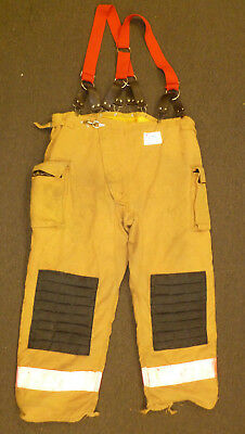 50x34 Crosstech Pants With Suspenders Firefighter Turnout Bunker Fire Gear P887