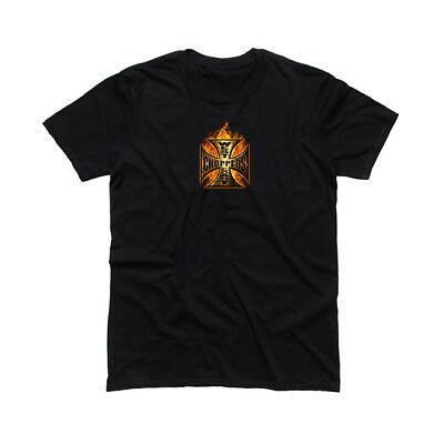 West Coast Choppers WCC In Flames Short Sleeve T-shirt - Black
