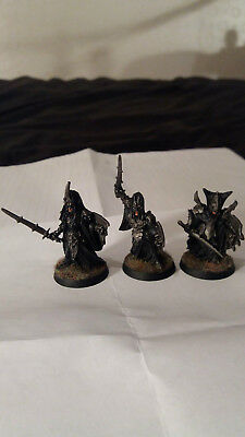 3 Black Numenoreans Warriors - Metal, Well Painted, Undamaged - Games Workshop