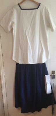 Ladies Navy Sailor Uniform - Fits To Size M/L