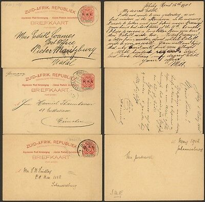 South Africa - Lot of 3 Postal stationery 28901