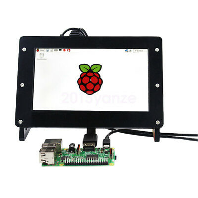 7 inch 1024x600 LCD Screen Display for Raspberry Pi + Driver Board + case