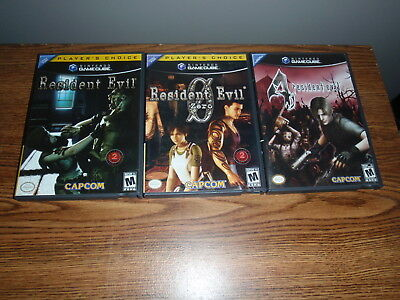 Lot of 3 Nintendo Game Cube Resident Evil Games: 1 Remake + 0 Zero + 4 bundle