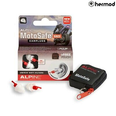 Alpine MotoSafe Motorcycle Race Reusable Earplugs Ear Plugs