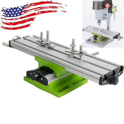 DIY 2-Axis Milling Compound Working Table Cross Sliding Bench Drill Vise Fixture