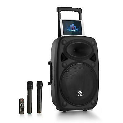 "Mobile PA Anlage 15"" Subwoofer Bühnen Sound Karaoke Box USB Bluetooth Mikro"