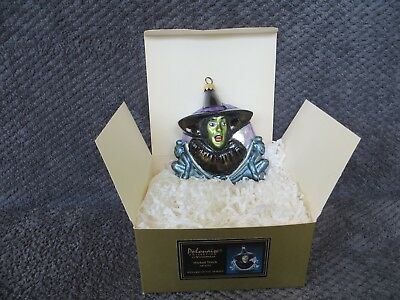 Wizard of Oz Glass Polonaise Ornament-Wicked Witch
