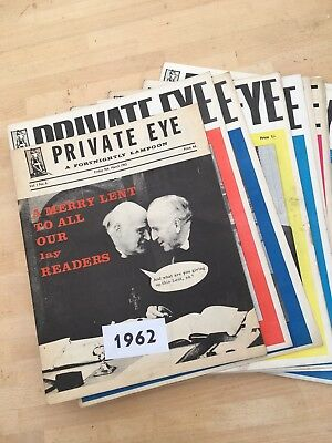 Collection Of Fourteen Early And Rare Private Eye Magazines - All From 1962