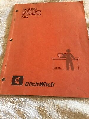 Ditch Witch 255 SX Plow Parts Book and operators manual