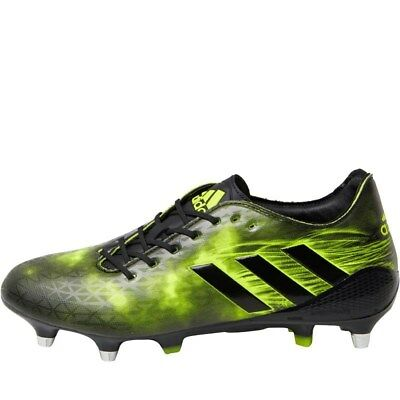 adidas Mens Crazy Quick Malice SG Rugby Boots Black/Yellow