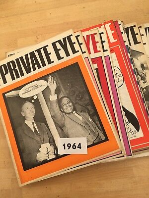 Collection Of 25 Early Private Eye Magazines, All From 1964