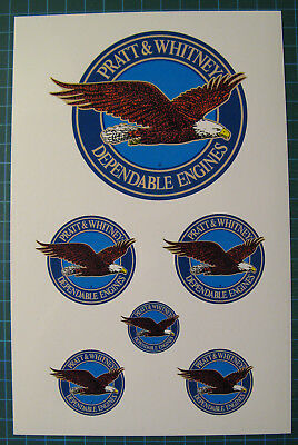 Pratt and Whitney Dependable Engines Decals Stickers - Aircraft Engine